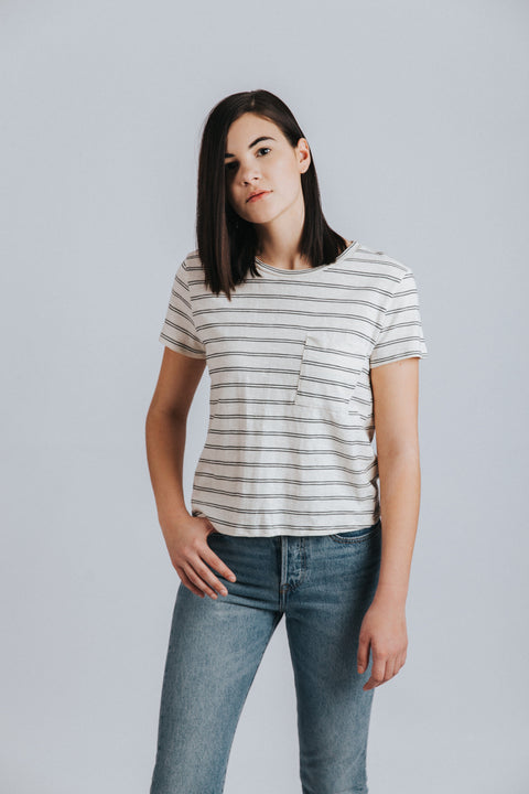 Jamie Tie Back Tee - Nell and Rose