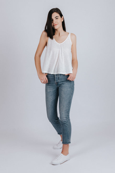 Everyday Swing Tank in White - Nell and Rose