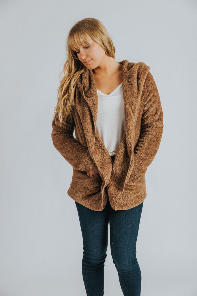 Fargo Open Front Jacket in Mocha - Nell and Rose