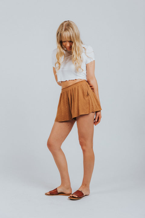 Piper Shorts in Ochre - Nell and Rose