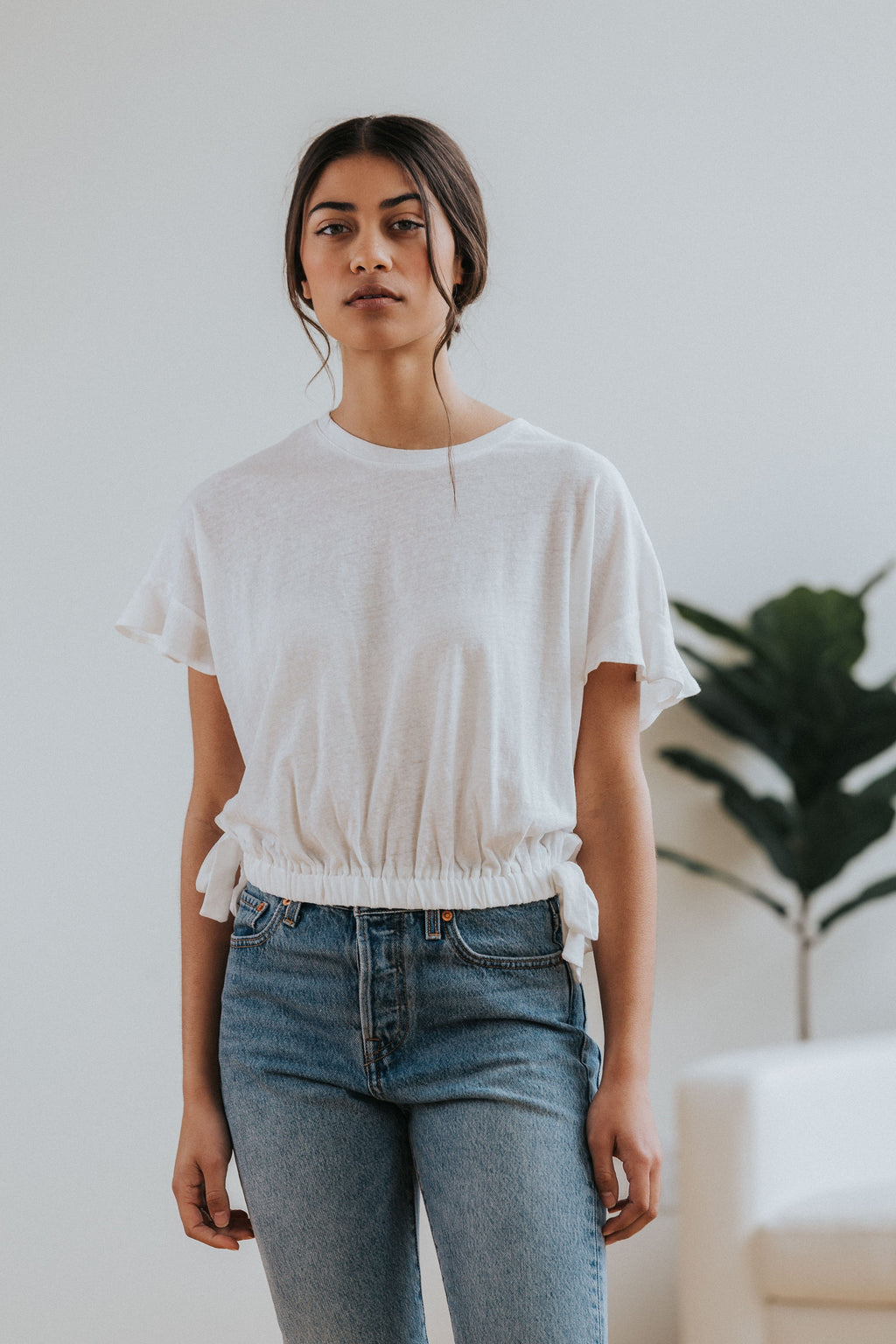 Kinsey Top in White - Nell and Rose