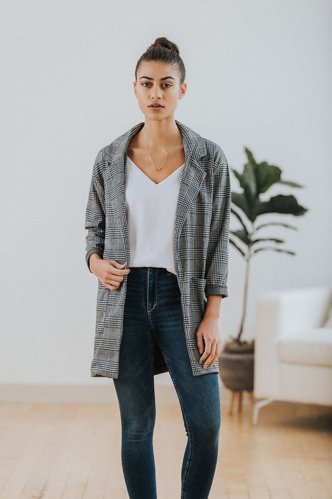 Murphy Plaid Blazer - Nell and Rose