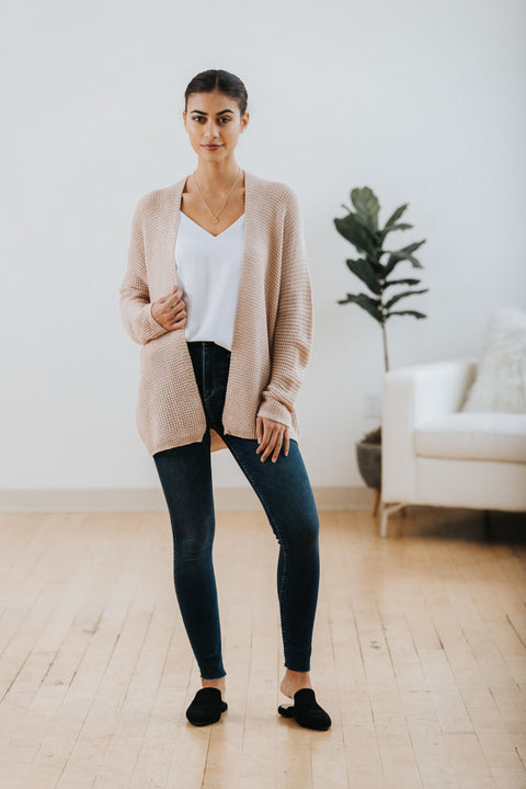 Stassi Waffle Cardigan - Nell and Rose