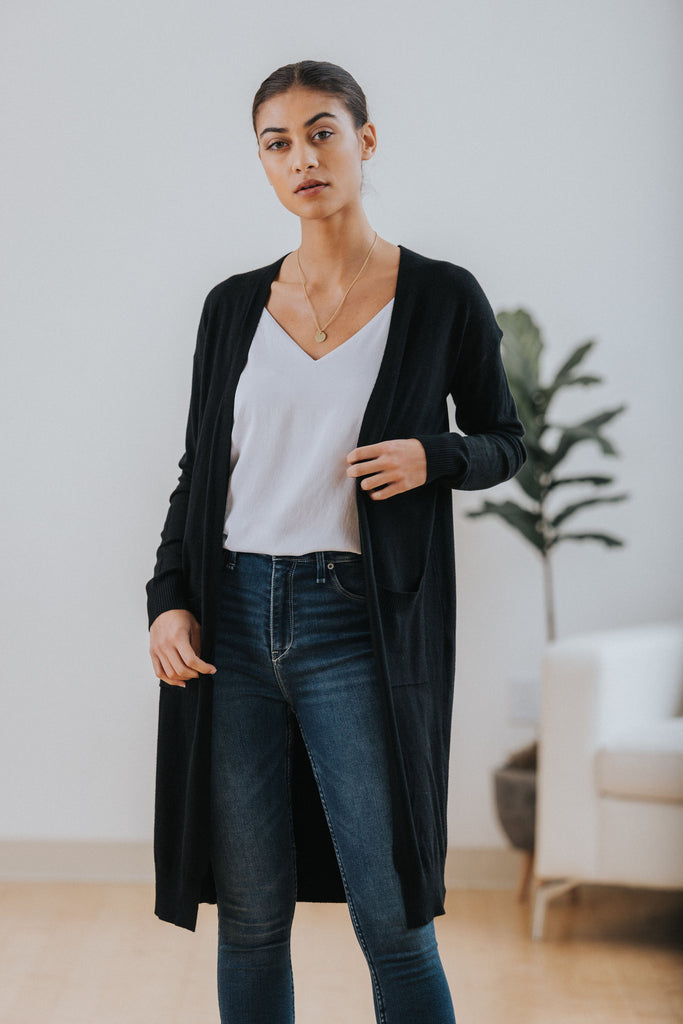 Dakota Cardigan in Black