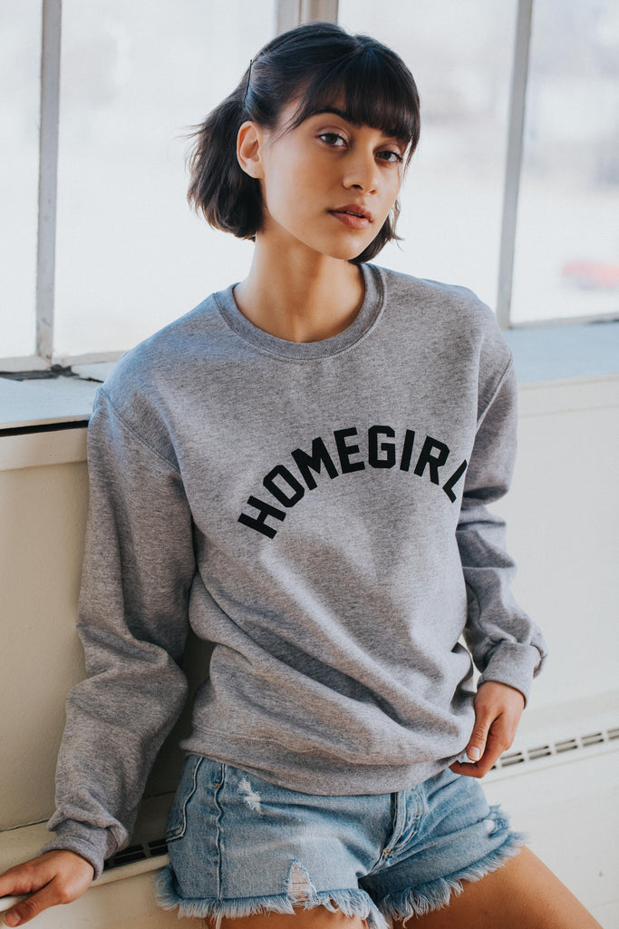 Homegirl Sweatshirt in Gray