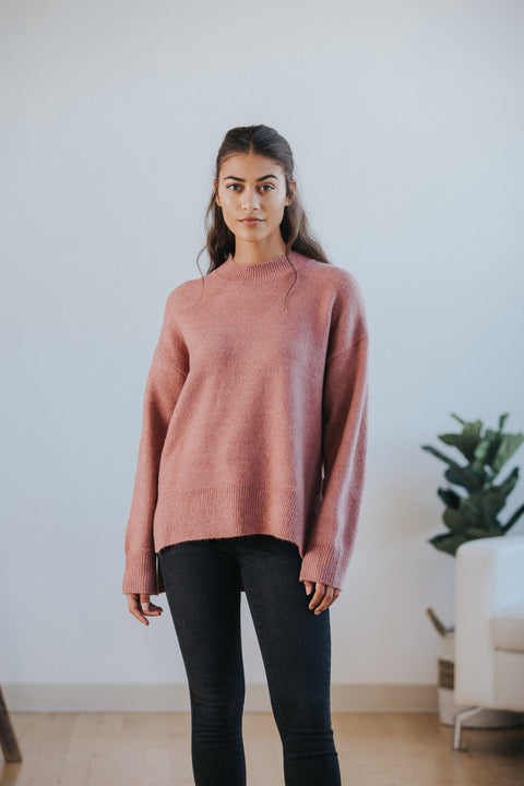 Chelsea Sweater in Mauve