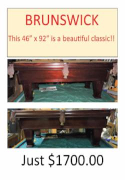 Used Brunswick Pool Table