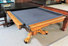World of leisure claw foot pool table and oak table top