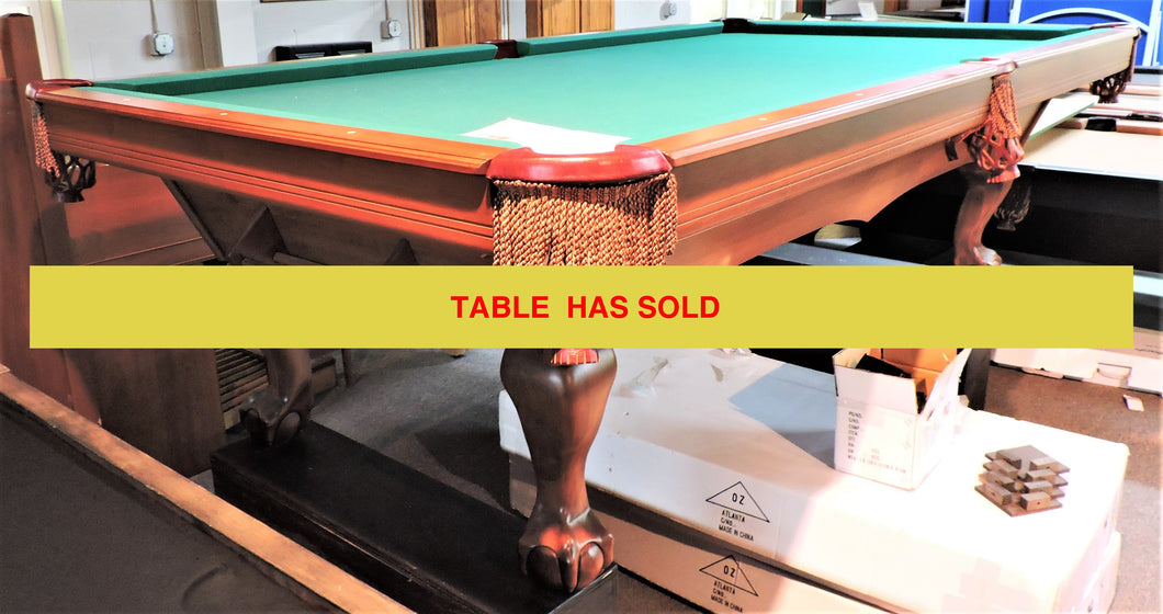 TCNAZ 9' used pool table