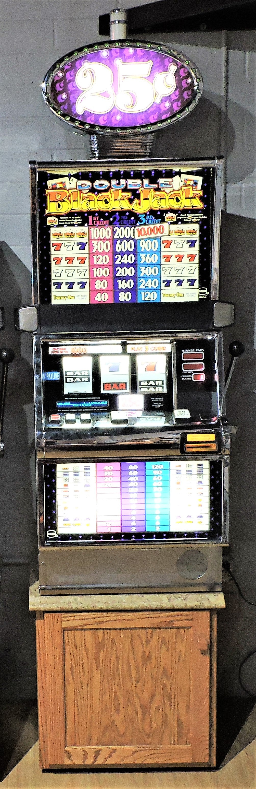 Double Black Jack tall slot machine