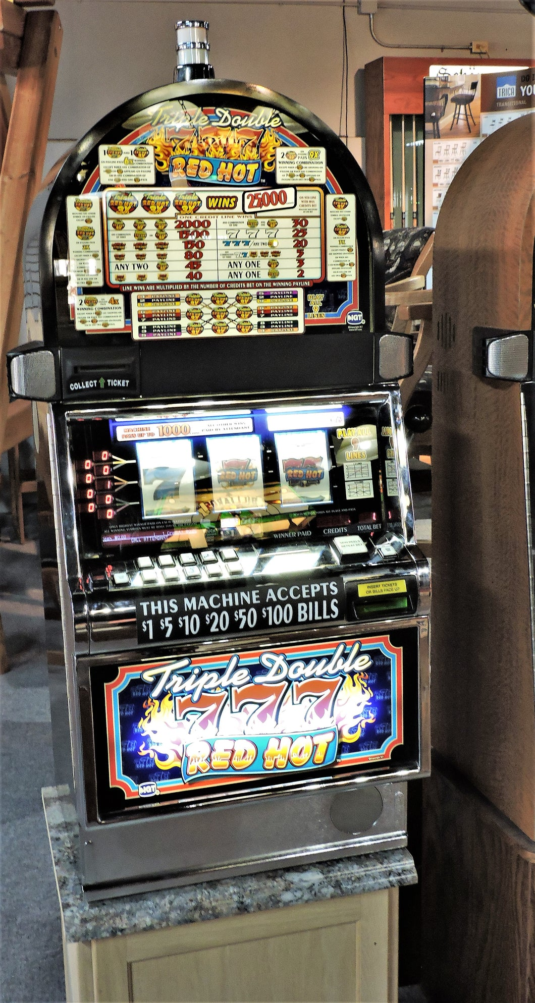 Triple Double Red Hot slot machine.