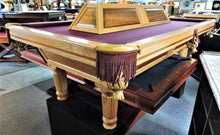 T.C.NAZ Raised panel walnut and red oak pool table and light combo showroom special