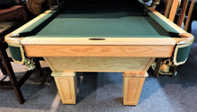 T.C.NAZ oak pool table from our showroom special sale.