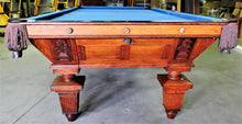"The ""Climax"" antique billiard table"
