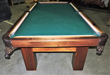 "Our TCNAZ solid walnut  ""Cooper"" billiard table."