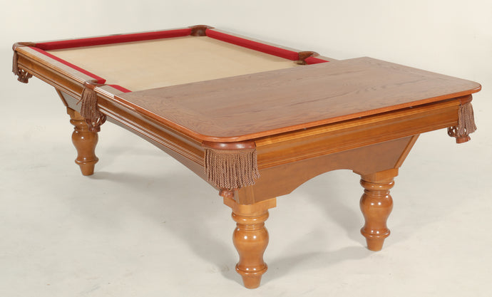 Hard Wood and Veneer Pool Table Dining Tops