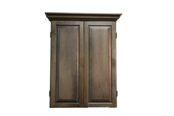 Our TCNAZ Grey Cabinet W/ Crown Molding