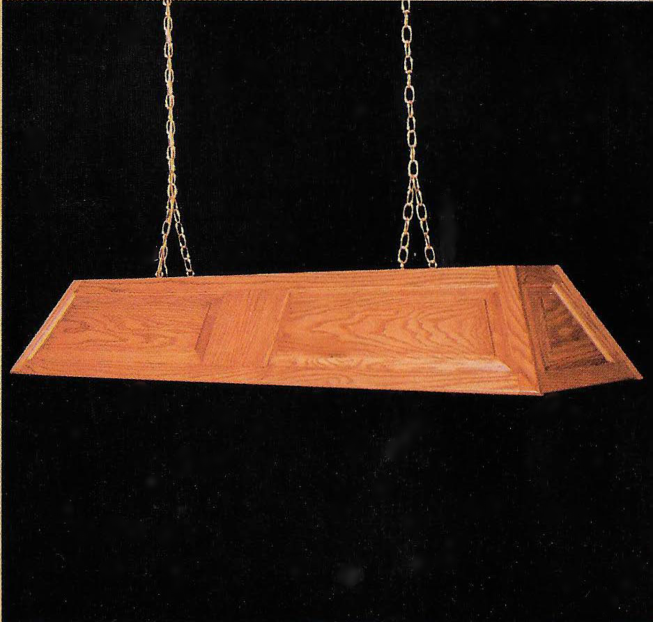 Split Raised Panel Billiard Light