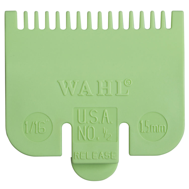 Wahl Clipper Guard Attachment Comb - ½ - 0.5 - 1.5mm (Lime Green)
