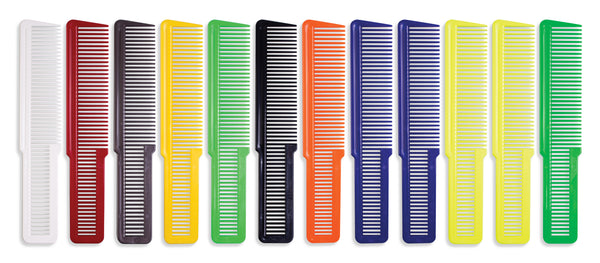Wahl 12 Pack Flat Top Coloured Clipper Combs