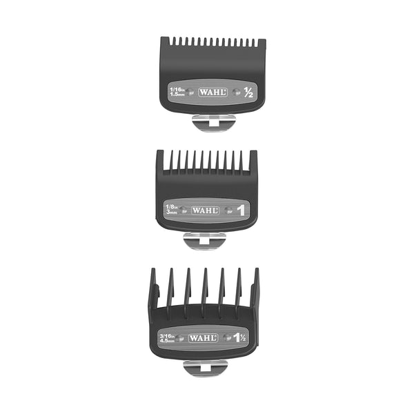 Wahl Premium Guards 3 Pack - Size: ½ , 1 & 1½