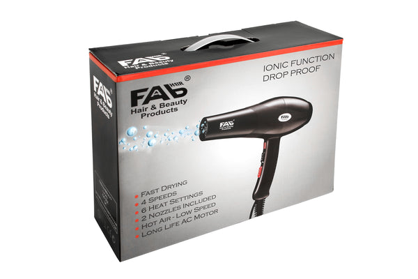 FAB Drop-Proof Hairdryer 2300W - !2 months Warranty