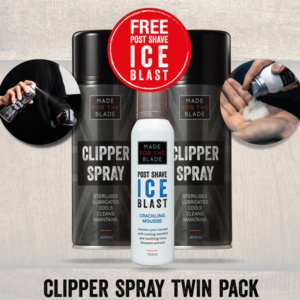 Made For The Blade Clipper Spray Combo + Free Post Shave Ice Blast