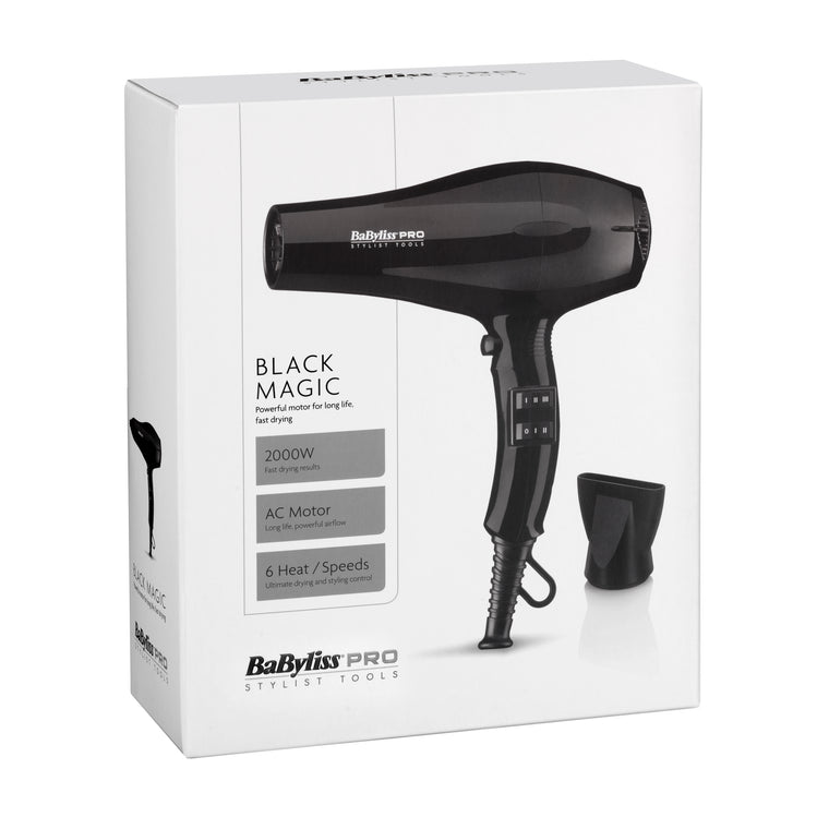 Babyliss Pro Black Magic Hairdryer 2000 Watts