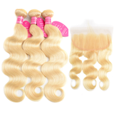 Lace Frontal Body Wave #613 Blonde + 3 Bundles