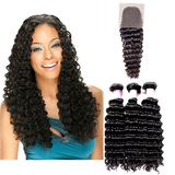 LACE CLOSURE - DEEPWAVE + 3 BUNDLES(#1B)