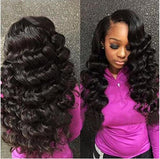 "13"" X 4"" LACE FRONTAL -LOOSE WAVE + 3 BUNDLES(#1B)"