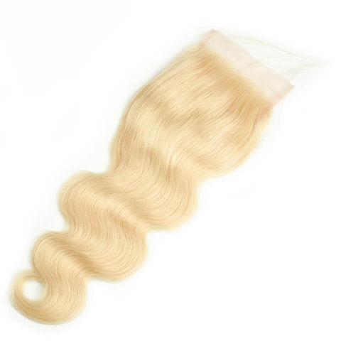 LACE CLOSURE - #613 BLONDE BODY WAVE