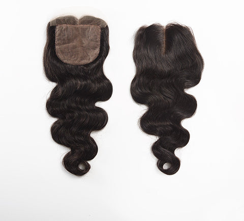 SILK CLOSURE - BODY WAVE - BRAZILIAN