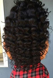 "13"" X 4"" LACE FRONTAL - BEACH WAVE + 3 BUNDLES(#1B)"