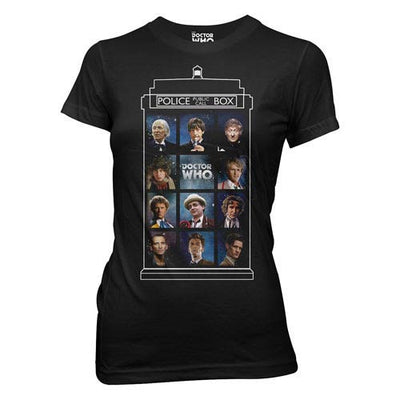 Doctor Who 50 Years, 11 Doctors TARDIS Juniors T-Shirt