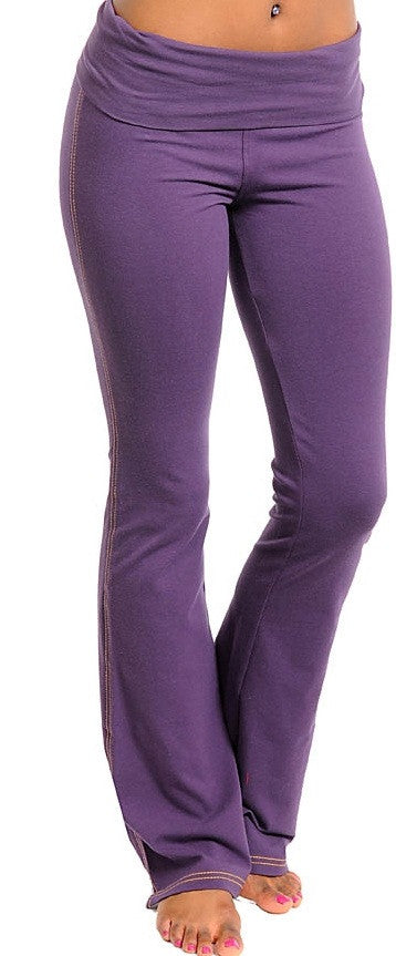 Women's Yoga Style Purple Pants