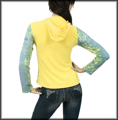 Sexy Angel Long Sleeve Yellow Print Hoodie S, M, L, XL
