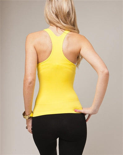 Sexy Yellow Y-Back Stretch Tank Top