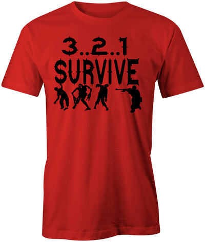 Men's 3..2..1 Survive T-Shirts-Zombie - Comfort Styles