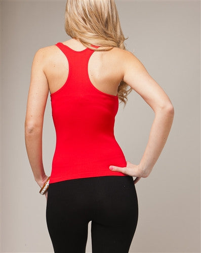 Sexy Red Y-Back Stretch Tank Top
