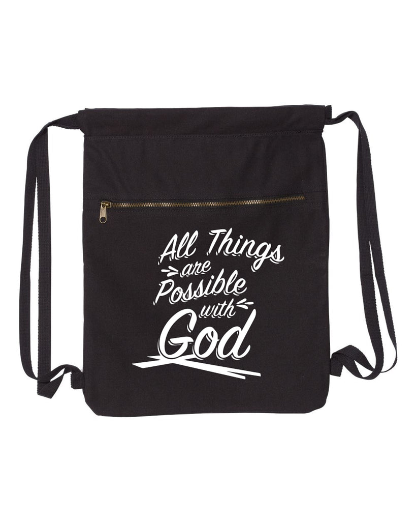All Things Are Possible With God Canvas Bag (Bags Collection) - Comfort Styles