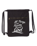 All Things Are Possible With God Canvas Bag (Bags Collection)