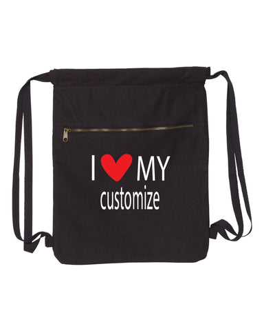 I Heart My-Customizable Canvas Bag (Customize Bags) - Comfort Styles