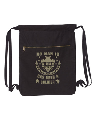 No Man Is A Man Until-Military Strength Canvas Bag (Bags Collection) - Comfort Styles