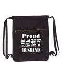 Proud Army Husband-Military Strength Canvas Bag (Bags Collection)