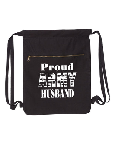 Proud Army Husband-Military Strength Canvas Bag (Bags Collection) - Comfort Styles