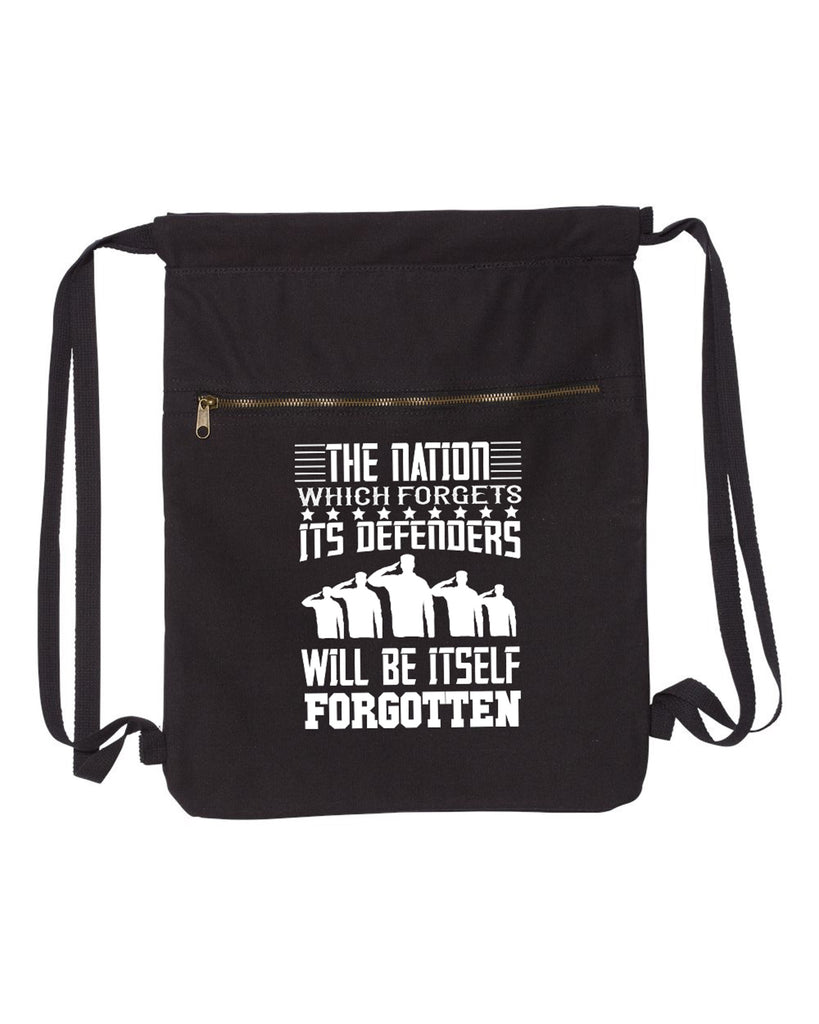 The Nation Which Forgets Military Canvas Bag (Bags Collection) - Comfort Styles