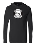Unisex Black Elite Asylum Long Sleeve Jersey Hooded Tee - Comfort Styles