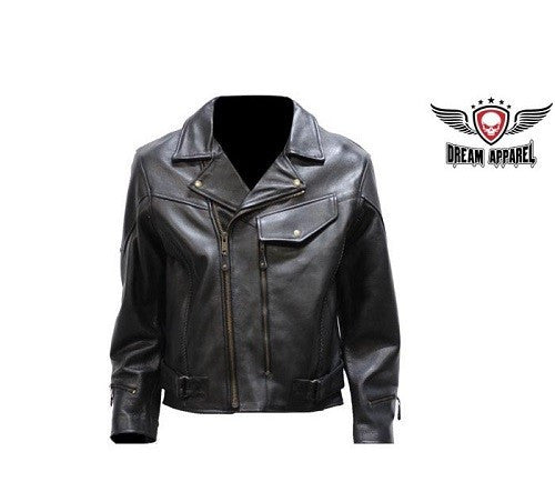 Mens Braided Pistol Pete Motorcycle Jacket - Comfort Styles