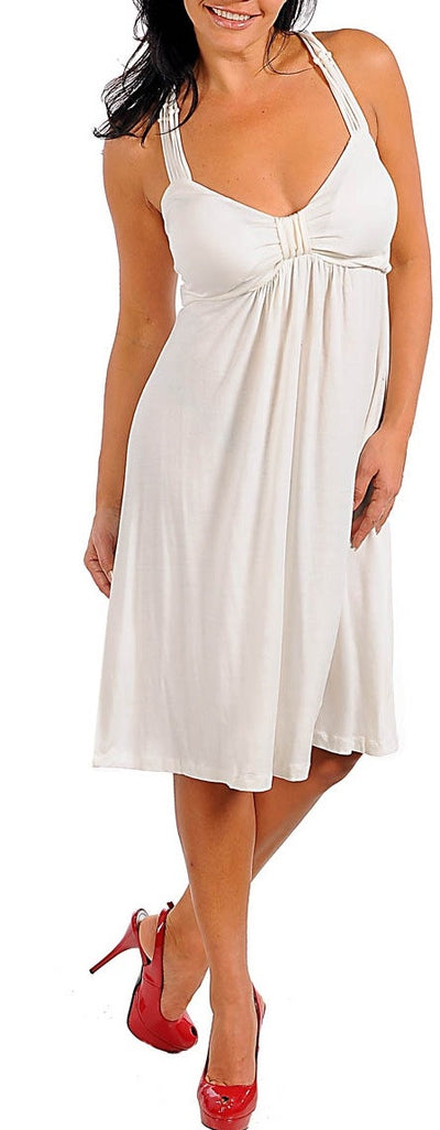 Zenobia White Fashion Maxi dress - plus size